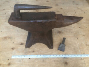 Antique blacksmith anvil, Tongs, Hammers, Vice,  Tools. Etc..