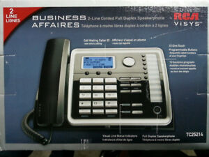 RCA TC25260 2-Line Corded Expandable Desk Phone New
