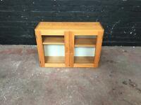 Lovely pine two door glazed cabinet