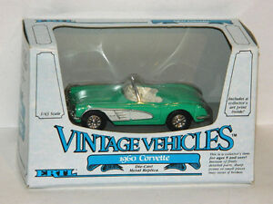 Ertl 1/43 Scale 1960 Chevrolet Corvette Diecast Car Green