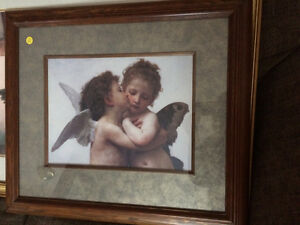 2 Framed Pictures of Angels.....$30 each obo