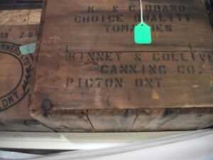 Old wood boxes from Prince Edward cty Canners Belleville Belleville Area image 3
