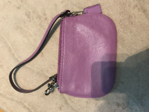 Coach Leather Wristlet/Mini Purse