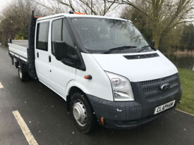 2013 63 FORD TRANSIT DROPSIDE W/TAIL LIFT D/C 2.2TDCI 125BHP 1 OWNER UK DELIVERY