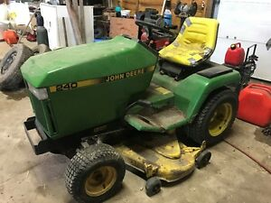 John Deere 240 Lawn Tractor-Snowblower, Grass Catcher and Tiller