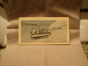 Vintage 1960's Bell HTL 6 Helicopter Morse's Tea and Coffee Card