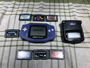 Gameboy Advance, snap on light and 7 games