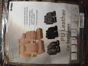 Beige car seat covers