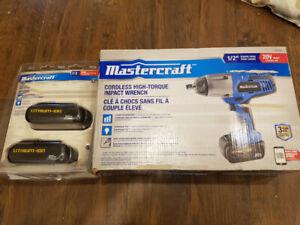 Mastercraft 20V Impact Wrench Drill Set - Brand New - BNIB