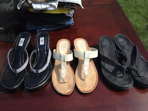 3 Pairs of Sandals for $5.