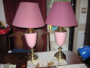 LAMPS  PAIRS AND SINGLES