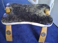 Unusual foot stool.