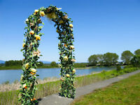 Decorated wedding arch for rent
