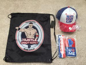 John Cena WWE Wrestling Tote Bag, Head/Wristband & Hat Set