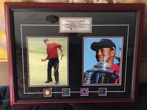"""Decade of the Tiger"" framed Tiger Woods 1996-2006"
