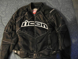 Icon Contra Motorcycle Street Jacket - Noir / Large