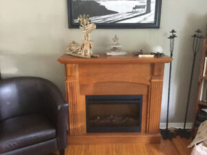 REDUCED!Electric Fireplace with remote