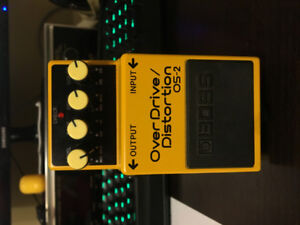 Overdrive and Distortion pedal BOSS, amp and headphones