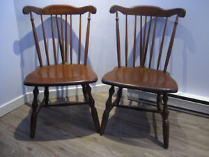 Mahogany dining chairs, 4 avail - serious buyers please