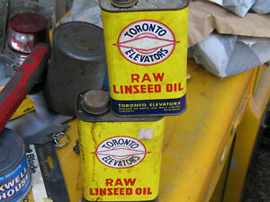 Linseed oil cans