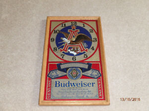 Budweiser Bar Clock & Coors Glasses (pickup only)