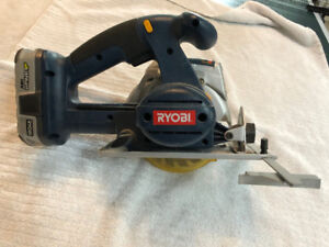 Ryobi Cordless Circular Saw with 2 batteries and charger