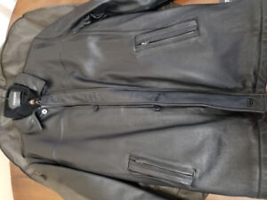 New Danier XL Men Leather Coat - Nouveau Manteau Cuir Homme TG