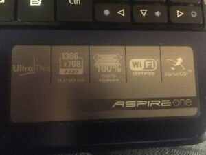 "Acer Aspire One 11.6"". Netbook 1.33GHz 2GB 250GB Windows Vista"
