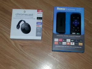 Brand New still in box media streaming devices
