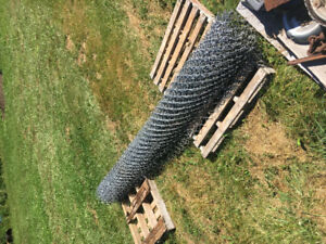 Roll of 10' chain link fencing
