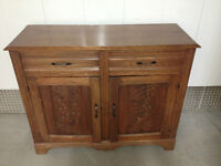 Antique Solid oak sideboard buffet / Buffet antique chêne massif