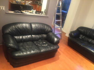 Free bonded leather couch and love seat. U pick up