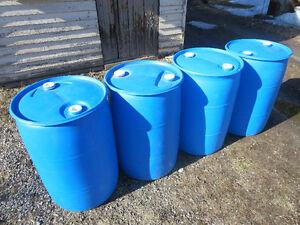 PEUT LIVRER baril 45 gallons plastique drum quais ponton lac