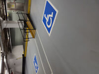 warehouse epoxy line painting