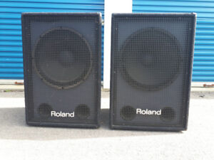 "2 Roland ssw-351 passive 18"" bass bins. (pa subwoofers)"