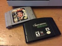 Golden Eye 007 and Wrestlemania 2000 Nintendo 64