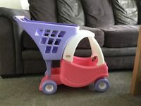 Little tikes push along car and trolley