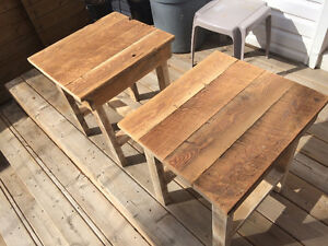 Barn board top coffee/end tables