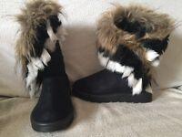 Ladies Faux Fur Boots
