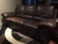 Real leather sofa and love seat