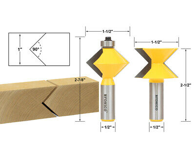 V Design 2 Bit Edge Banding Router Bit Set - 1/2