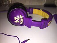 Headphones - Skull Candy - LA Lakers