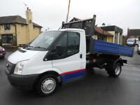 2012 Ford Transit 350 Single Cab One Stop Tipper Diesel Truck Only 28,000 Miles