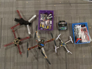 Quad, frames, motors, prop, batteries, remote + more