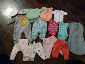 New born baby girl clothes.