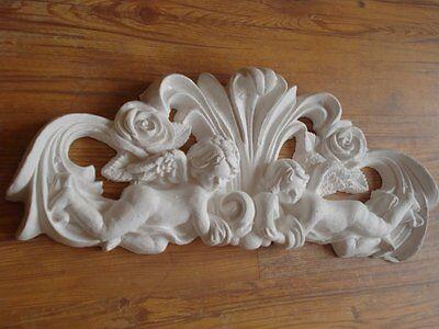 Stucco - wunderschöne Engel Bekrönung 101-253 Türbekrönung aus Stuck Supraport