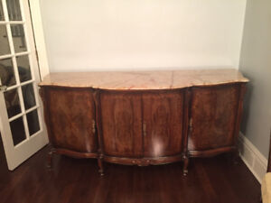 French antique Buffet hutch wood 1800's