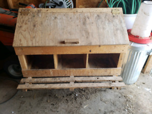Chicken nest boxes, laying boxes