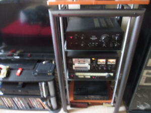 SANSUI AMP & TUNER & CASSETTE & CD PLAYER & JBL SPEAKERS