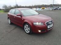 2005 AUDI A3 RED Sportback, (Automatic) Petrol 2L, Full Service History, Very Good Condition